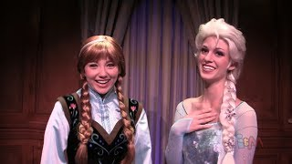 """Frozen"" Anna And Elsa Move To Princess Fairytale Hall At"