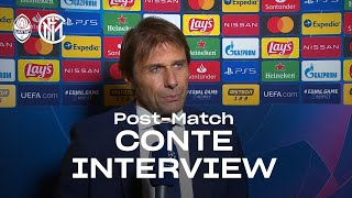 "SHAKHTAR 0-0 INTER | ANTONIO CONTE EXCLUSIVE INTERVIEW: ""I saw the right mentality"" [SUB ENG]"