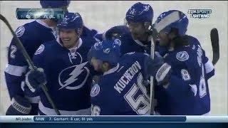 Первый гол Никиты Кучерова в НХЛ