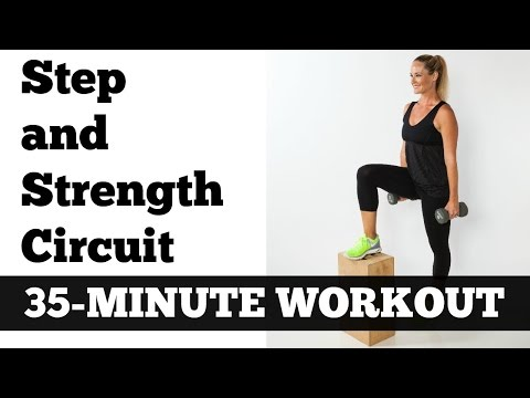 Cardio, Strength Circuit Training: The 35 Minute Cardio Strength Step Circuit
