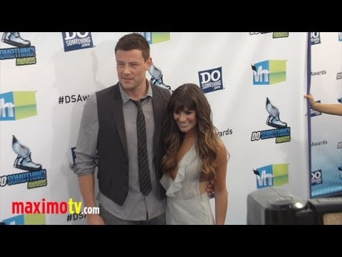 Cory Monteith and Lea Michele GLEE at 2012 Do Something Awards ARRIVALS