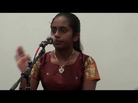 Niharika Nair Singing on Mutu Swami Dikshitar day Nov 2013