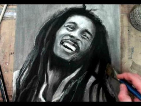 How to Draw/Paint Bob Marley Portrait Step by Step