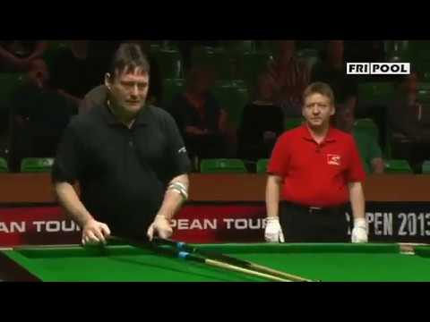 interesting snooker frame b/w jimmy white and pankaj advani(yellow to black)-2013