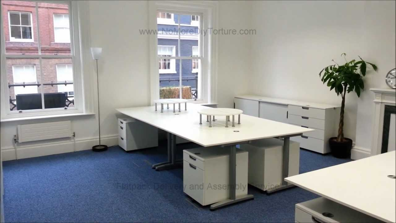 ikea office flatpack furniture galant series youtube