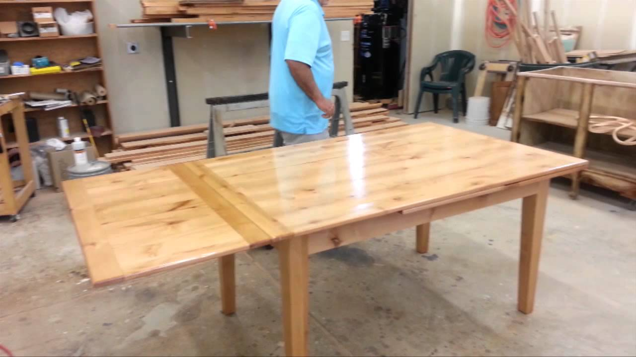 for How to build a dining room table with leaves