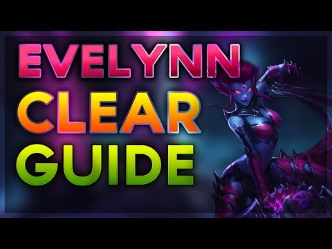Reworked Evelynn Jungle - Basic Early Clear Guide For Beginners Season 7 (League of Legends)