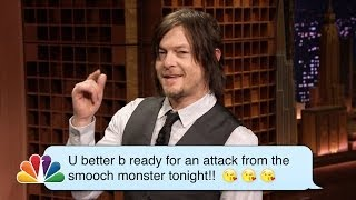 Norman Reedus Reads Romantic Texts ­Messages