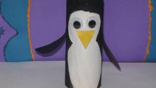 How To Make A Toilet Paper Tube Penguin (white Face) EP