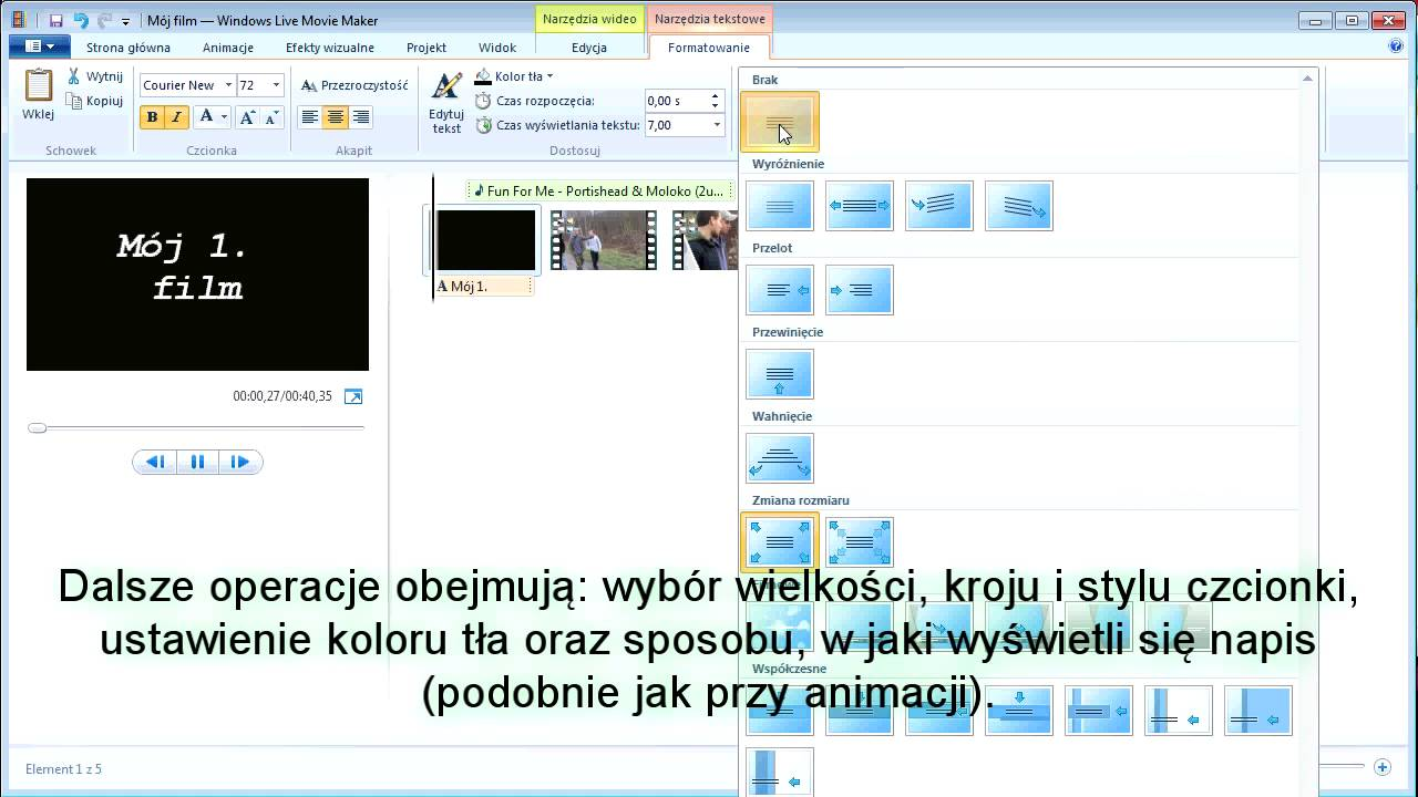 Windows Live Movie Maker - tutorial PL część 3. - YouTube