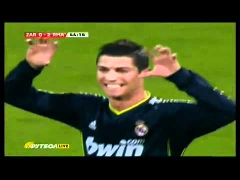 Cristiano Ronaldo - Best Freekick Ever- Real Madrid vs Zaragossa 2:0 (3:1)