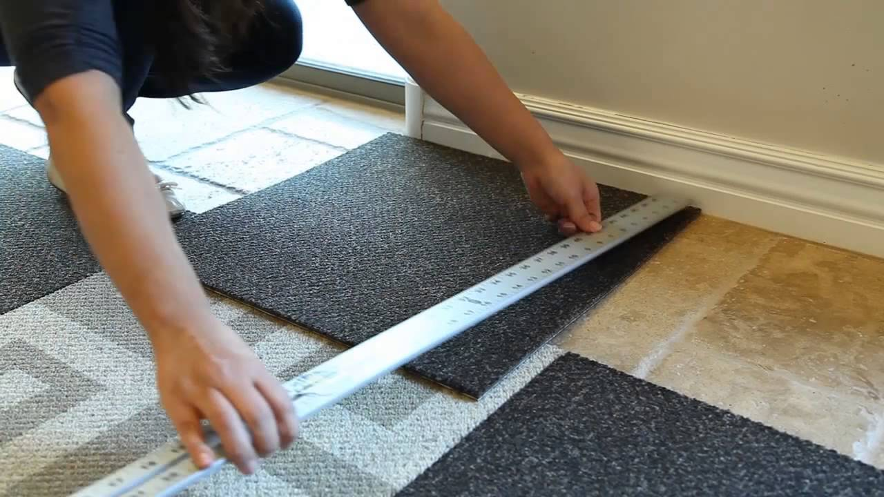 How To Install Carpet Tile Flooring Youtube