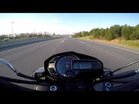 Kawasaki Z-125 pro top speed test (part 2) new flash and new exhaust