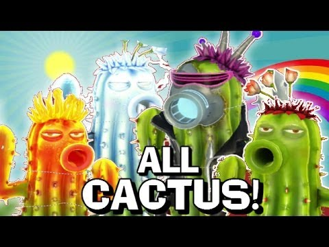 All Cactus New Characters Plants Vs Zombies Garden