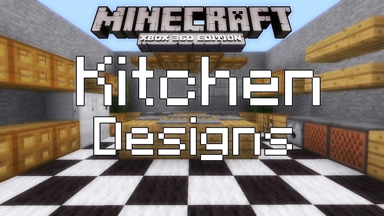 minecraft xbox 360 simple kitchen designs youtube