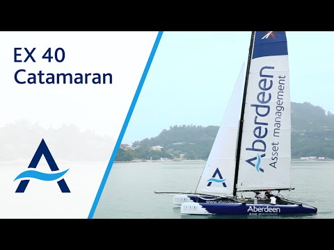 Aberdeen Asset Management HK Sponsors EX 40 Catamaran in 'Tommy Bahama Around The Island Race 2013'