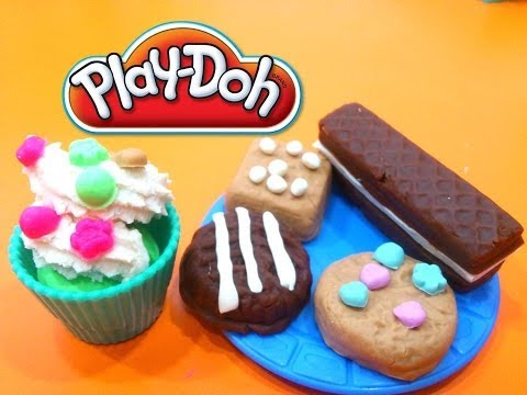 PLAY-DOH COOKIES SWEETS CAFE.PLAY DOH GALLETAS DULCES DE CAFE PASTELERIA PLASTILINA