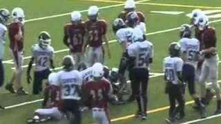 11 year old Linebacker Joseph Dutton (43) Calgary Cowboys.avi view on youtube.com tube online.
