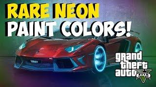 "GTA 5 Rare Paint Jobs: Best RARE Paint Jobs! ""Neon Paint"
