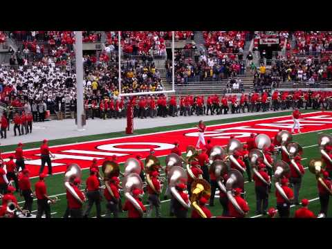 Ohio State Marching band and Alumni Band Pregame Show 9 13 2014 OSU vs Kent St.