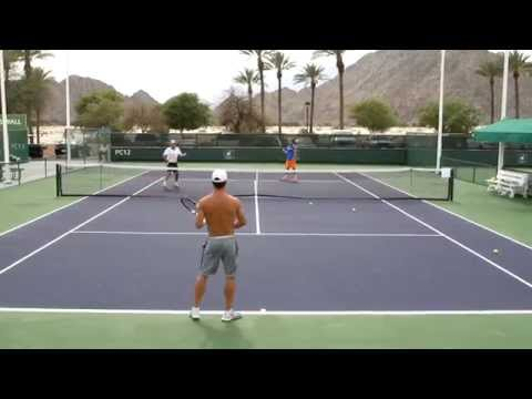 Fabio Fognini Practice 2014 BNP Paribas Open Indian Wells