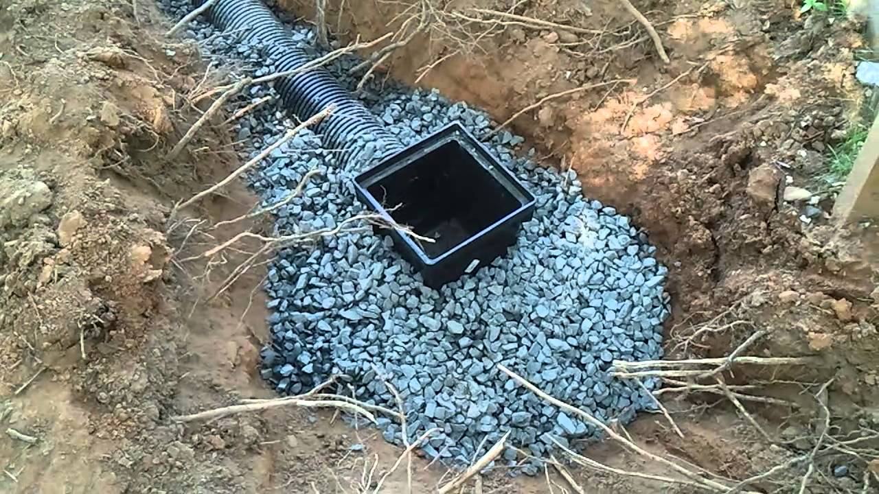 Implementing a drainage pipe youtube for Soil drainage system
