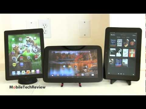 iPad 4, Google Nexus 10 and Amazon Kindle Fire HD 8.9