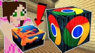 Minecraft: LUCKY BLOCK PROGRAMS!! (GOOGLE, FIREFOX, & VIRUSES!) Mod Showcase