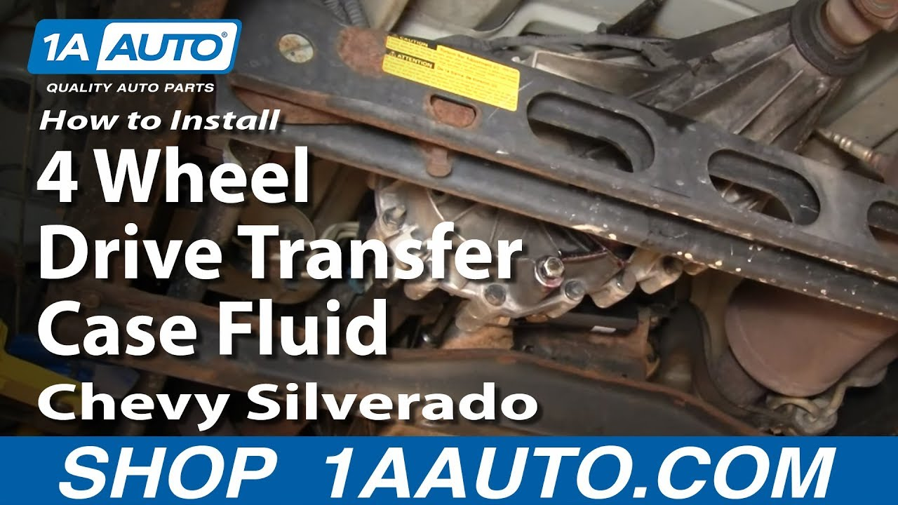 How To Install Replace 4 Wheel Drive Transfer Case Fluid