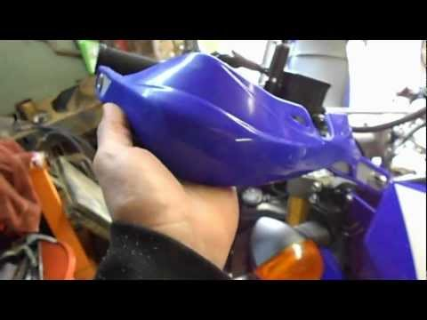 How To Install Motocross Hand Guards Yamaha Honda Suzuki Can-Am ATV AT