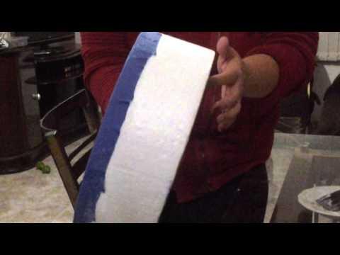 como fazer bolo cenográfico /falso em tecido Parte1