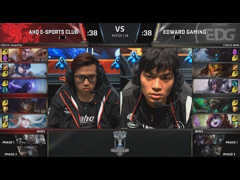AHQ (Ziv Jayce) VS EDG (iBoy Twitch) Highlights - 2017 World Championship Group D8