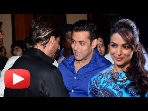 Salman Shahrukh Hug At 2014 Iftar Party - Malaika Arora Khan Reacts