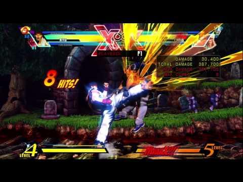 Ultimate MvC3: Simple Ryu Corner Combo