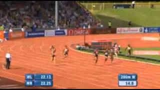 Okagbare Beats  Fraser Pryce 22.55 - IAAF Diamond League Birmingham 2013