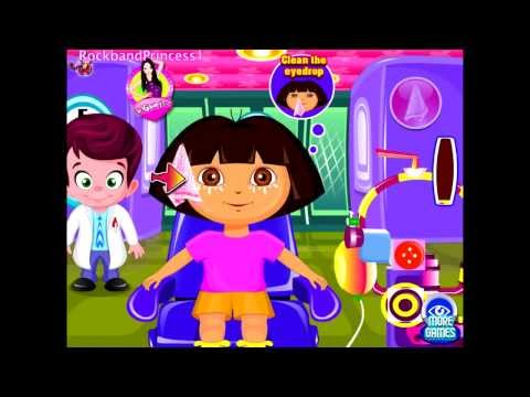 Dora Games To Play Online Cute Dora At The Eye Clinic Game