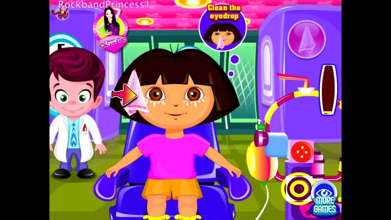 Dora Games To Play Online Cute Dora At The Eye Clinic Game ...