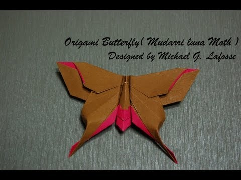 Origami Butterfly (Michael G. Lafosse) - How to fold an Origami Butterfly