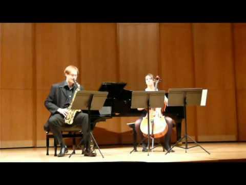 Carl-Emmanuel Fisbach — Sonata for Alto Saxophone and Cello, III, Edison Denisov