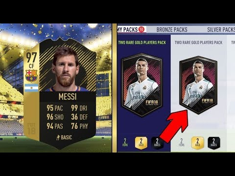 OPENING PACKS UNTIL WE GET 97 MESSI IN A PACK!!😍😍(FIFA 18 PACK OPENING)