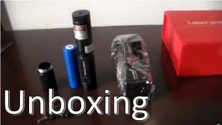 Green Laser Pointer 2000mw Unboxing