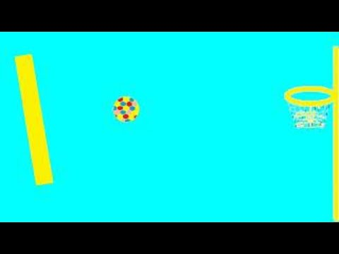 Funny ball play bascetball game for kids (NO MUsIC)