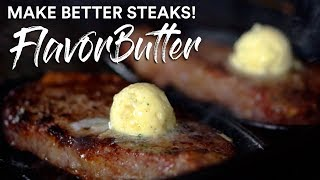 How to make GARLIC BUTTER from SCRATCH! for the best STEAK in the UNIVERSE!