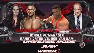 WWE 2K14 Universe Mode RAW Week 2 Randy Orton Vs Rob