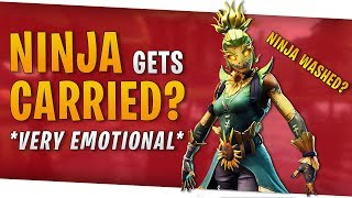 Fortnite - Ninja gets carried? *VERY EMOTIONAL* - Duos with Ninja - October 2018 | DrLupo