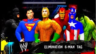 WWE 12 Justice League Vs The Avengers [Round 2] 6 Man
