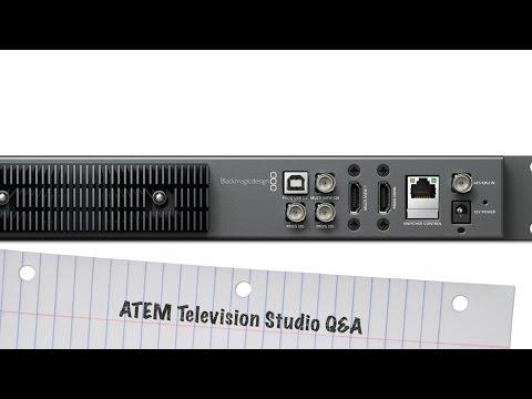 BlackMagic ATEM Television Studio Q&A: Recording via USB, Streaming and iPad / Tablet Control