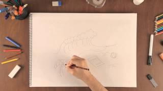 Como dibujar una escena de playa