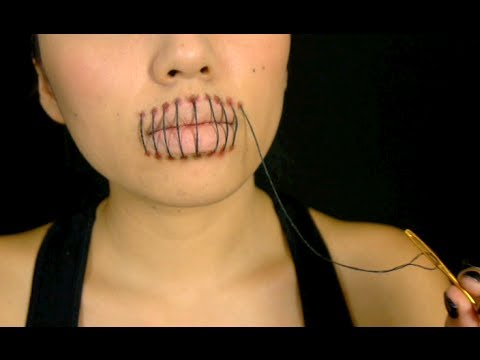 Stitched Mouth Tutorial (Halloween 2013)