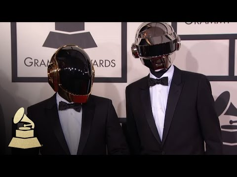 Daft Punk: 56th GRAMMY Red Carpet Fashion Cam